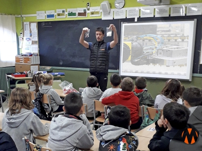 Freddy Tuset (mould mechanic) has teached the pupils of Escola Mestre Andreu our work.