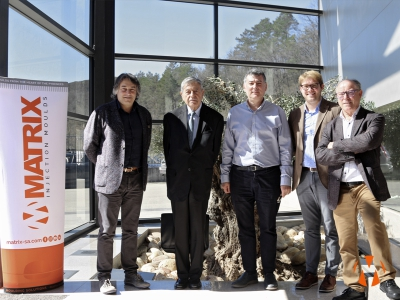 Matrix Injection Moulds and Tools has received the visit of Phd, Pedro Nueno